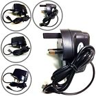 MICRO USB 3 Pin UK MAINS WALL CHARGER CE ROHS AC FOR LATEST MOBILE PHONES