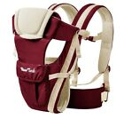 Newborn Baby Carrier Sling Wrap Backpack Front Back Chest Ergonomic 4 Position фото