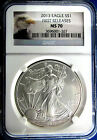 ALMOST PERFECT 2013  MS 70 NGC CERTIFIED FIRST RELEASE AMERICAN SILVER EAGLE