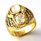 Vintage army mens Womens jewelry Wedding CZ Gold Filled Ring Size 6 7 8 9 10