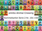 amiibo Animal Crossing Karte Nr. 101 - 150 Serie 2 Happy Home Designer, NEU