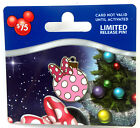 Disney PIN no value gift card PWP christmas ornament minnie mouse dots 2013