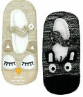 Womens Animal Face Snuggle Ballet Slipper House Socks UK Shoe Sizes 3 to 8