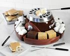 ELECTRIC SMORES MAKER + 4 STAINLESS STEEL FORKS FUN MARSHMALLOW ROASTING SMM-300
