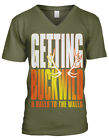 Getting BuckWild And Balls To The Wall Antlers Deer  Mens V-neck T-shirt