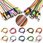 3/6/10ft Braided Aluminum Micro USB Data&Sync Charger Cable For Android Phones