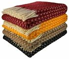 100% NEW ZEALAND WOOL THROW PLAID WOOL BLANKET BEDSPREAD 140cm x 200cm