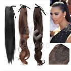 wrap drawstring clip in ponytail hair extension new style 22 20 18 hairpiece