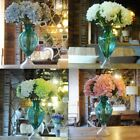 Home Wedding Garden Decor Artificial Fake Silk Flower Bridal Hydrangea Bouquet