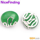 Oval Bead Silver Plated Stud Omega Back Earrings Fashion Women Jewelry Mom Gifts