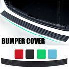 Car Rear Bumper Sill Protector Plate Rubber Cover Guard Back Door Boot Trim Deck