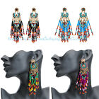 1 Pair Women Fashion Resin Rhinestone Ear Stud Boho Enthic Tribal Gypsy Earrings