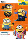 SEWING PATTERN Simplicity Minions 1096 KIDS Minion Costume S M L Despicable Me