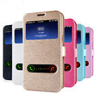 Luxury Leather View Strap Stand Flip Case Cover For Samsung/Apple Phones