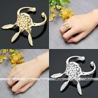 Womens Bohemian Silver Gold Dreamcatcher Feather Leaf Tassel Open Finger Ring