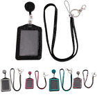 Resin Rhinestone Crystal Cell Phone Work Card ID Badge Holder Lanyard Necklace