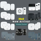 Meccanixity US Plug Cordless Wireless Doorbell 1 Receiver 2 Remote Push Buttons