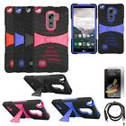 Phone Case For LG Stylo 2 4g LTE Heavy Duty Armor Cover Stand USB Charger Film