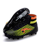 Fashion Children Men's High Top Soccer Shoes Trainer Flexible Football Shoes