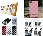 1x iphone4 4s phone cover case gel soft silicone cover colorful dots new P142
