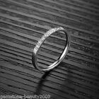 GB Wholesale Silver Stainless Steel Women Ring Engagement Size8