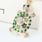 Lovely Tortoise Turtle Charm Rhinestone Crystal Purse Bag Keyring Key Chain Gift