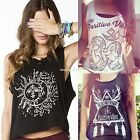 Women Vest Top Loose Sleeveless Summer Casual Printed Tank Tops T-Shirt Blouse