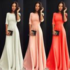 Sexy Women Boho Summer Casual Chiffon Evening Party Beach Long Maxi Dress  B20E