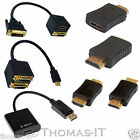 DP Displayport / HDMI Male to HDMI DVI-D Female Gold Plated Converter Adapter