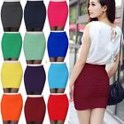 Women Ladies Mini Skirt Slim Seamless Stretch Tight Short Pencil Skirt OL