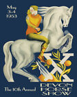 Lady Girl On Horseback Dressage Annual Meeting Devon Horse Poster Repro FREE SH