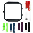 Soft Silicone Wrist Watch Band With Metal Frame Sport Strap For Fitbit Blaze New