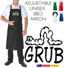 Grub Messy Dad Mum gift New Aussie Funny Apron Bar Bbq Kitchen Unisex Chef cook