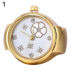 Lady Girl Tone Round Elastic Alloy Quartz Watches Finger Ring Watch New Arrival