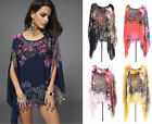Summer Beach Holiday Women Sexy Loose Chiffon Blouse Tops T-shirt Clothing Shirt