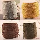 100 meters Plated Cable Open Link Iron Chain for necklace/bracelet Findings