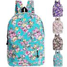 Stylish Womens Backpack School Bag Flowers Pattern Style Superb Travel Rucksack