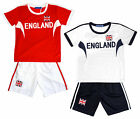 Boys Kenster England Flag Logo Football Sport Top & Shorts Set 4 to 14 Years