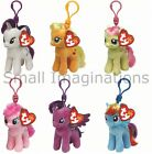 My Little Pony 4 inch Key Clip - Ty Plush Beanie Babies - Soft Plush Toy Teddy