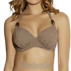 Fantasie Lombok Halter Full Cup Bikini Top Truffle Brown 6007 NEW Select Size