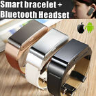 M8 Bluetooth Headset Quick Watch Bracelet Smartband For IOS Android Phone Best
