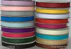 "Grosgrain Ribbon 10mm wide x 25 metre reel  Choose From Many Colours 3/8"" width"