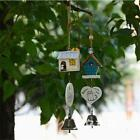 Bird Wooden House Landscape Garden Outdoor Home Kid Room Decor Wind Chime Bell S