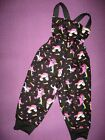 NEW Baby Girls Black Pink Rainbow Unicorns dungerees Leggings Trousers set Gift