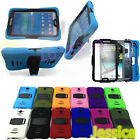 Hybrid Shockproof Stand Rubber Case Built-in Screen Guard For Samsung Galaxy Tab