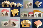 Hamster Wooden House Natural Wood Home Cage Gerbils Small Rodents Many Size