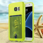 Slim Hybrid Card pocket wallet Silicone Case Cover For Samsung iphone Fashion