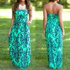 Womens Ladies Boho Sexy Summer Beach Evening Party Long Maxi Dress 6-16 TY