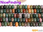 3X6mm Rondelle Natural Indian Agate Round Beads For Jewelry Making Spacer Beads