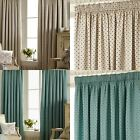 PICARDIE EMBROIDERED LINED TAPE TOP CURTAINS READY MADE PENCIL PLEAT PAIRS
